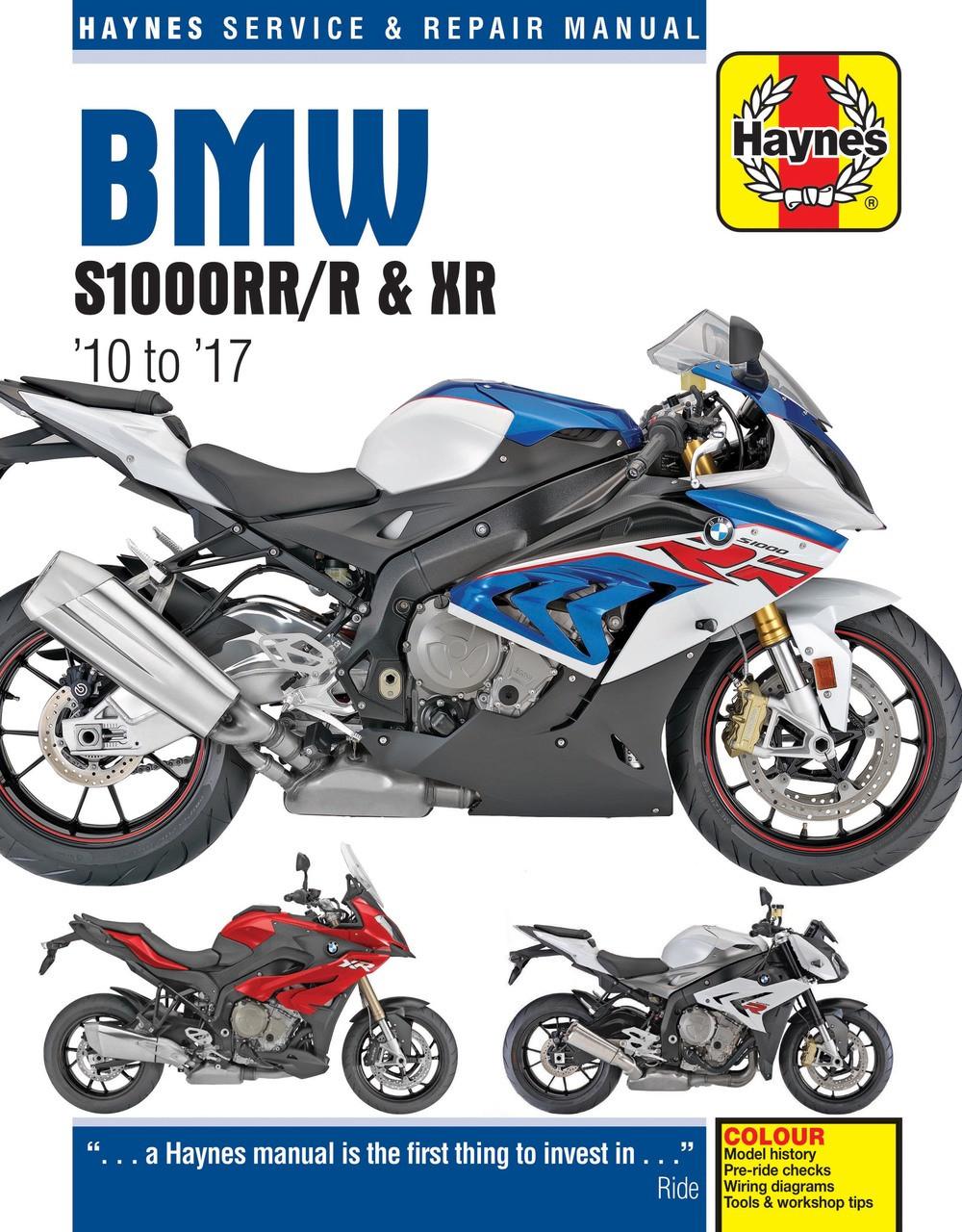 bmw s1000rr s1000r s1000xr 2010 2017 workshop manual rh automotobookshop com au 2007 BMW R1200RT 2016 BMW R1200RT