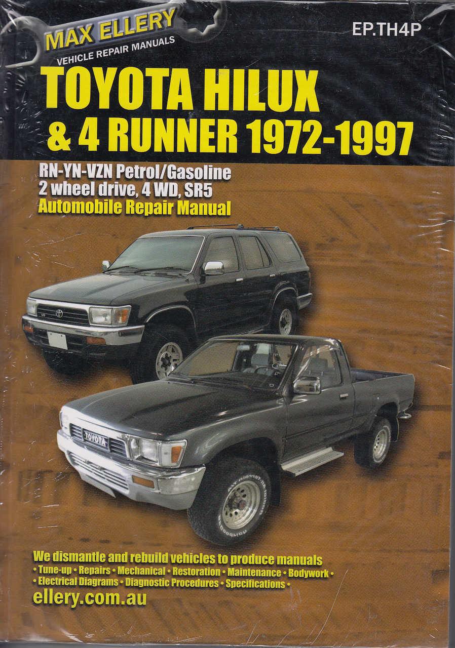 toyota hilux 4runner rn yn vzn petrol 1972 1997 workshop manual rh automotobookshop com au Hilux 2009 Hilux 2009