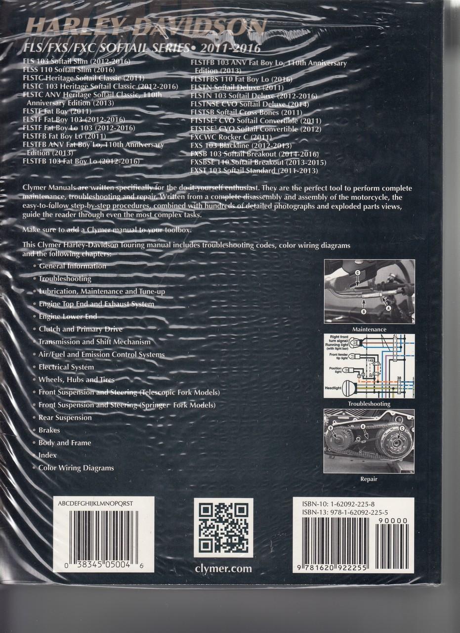 Clymers Harley Davidson Workshop Manual Fls Fxs Fxc Softail Series 2013 Slim Wiring Diagram 2011 2016