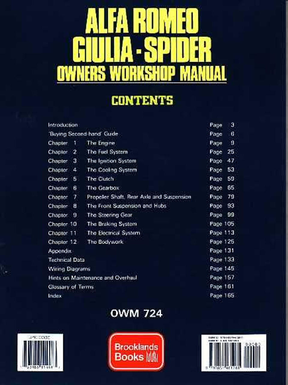 Alfa Romeo Giulia Spider Workshop Manual - Alfa romeo spider workshop manual