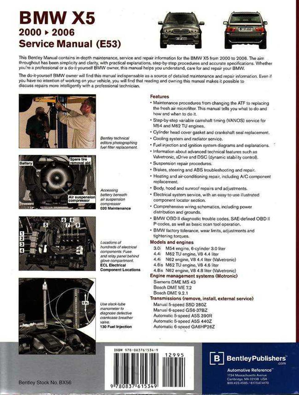 bmw x5 e53 2000 2006 workshop manual rh automotobookshop com au 2014 X5 BMW bentley bmw x5 service manual download