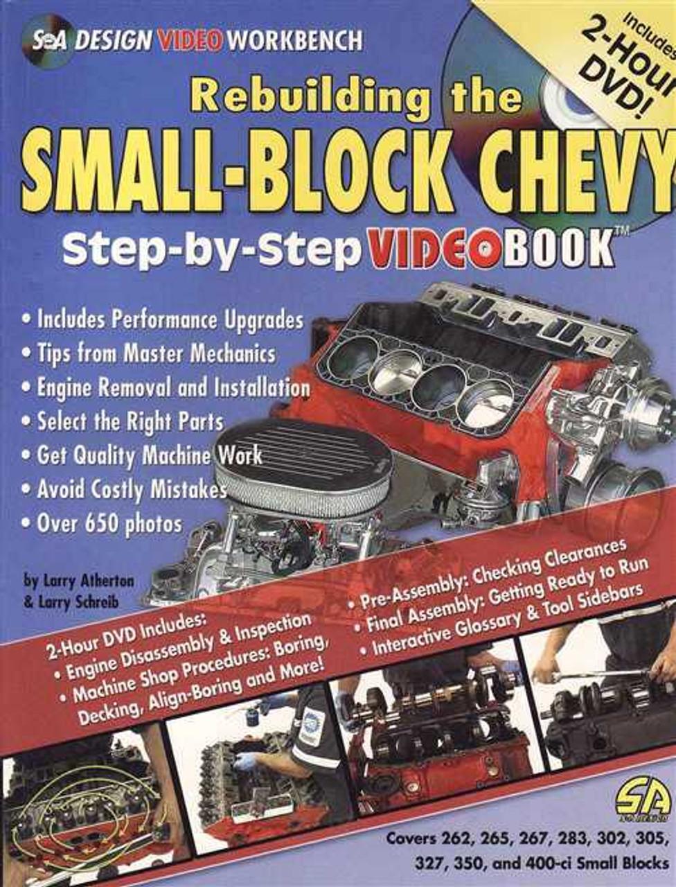 rebuilding the small block chevy video book rh automotobookshop com au Small Block Chevy Engine Rebuild Book Rebuild Small Block Chevy Specifications