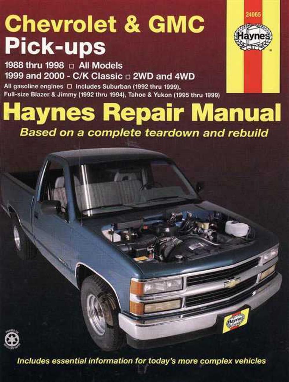 chevrolet amp gmc pick ups 1988 2000 workshop manual rh automotobookshop com au 2004 Chevrolet Blazer 2006 Chevrolet Blazer