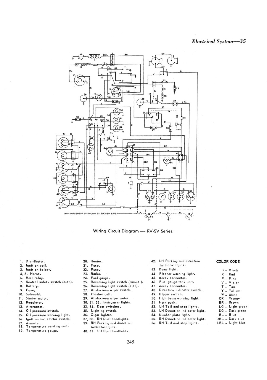 Valiant R S Ap5 Ap6 Vc Ve Vf 6 Cylinder 1962 1970 Workshop Manual Reverse Light Wiring Diagram Color Code