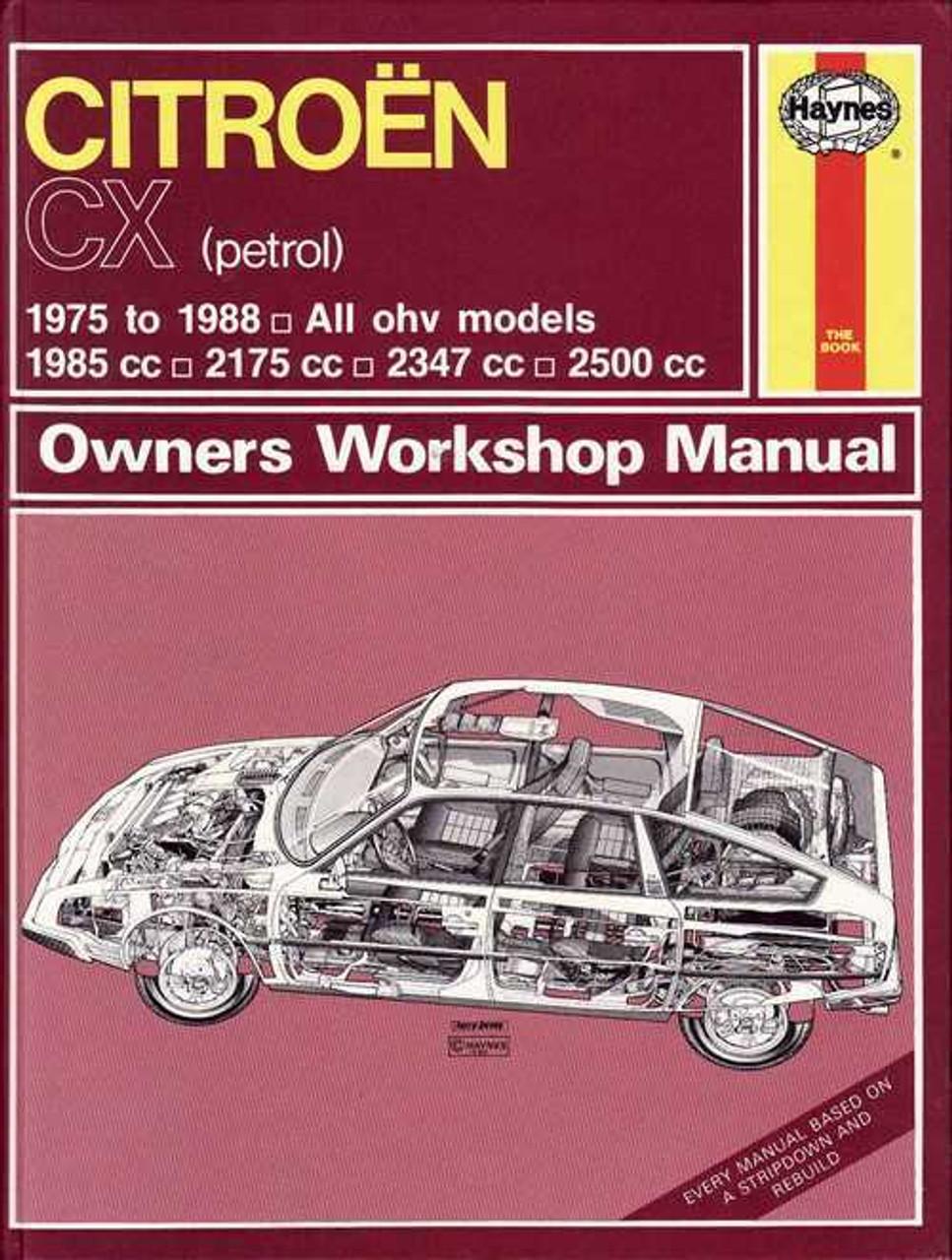 citroen cx 1975 1988 workshop manual rh automotobookshop com au Auto Repair Manuals Online Haynes Repair Manuals Mazda