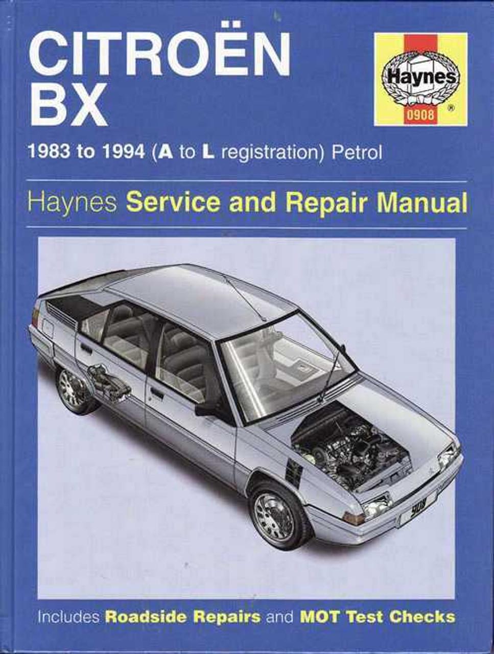 citroen bx 1983 1994 petrol workshop manual rh automotobookshop com au Citroen Cars Citroen BX Interior