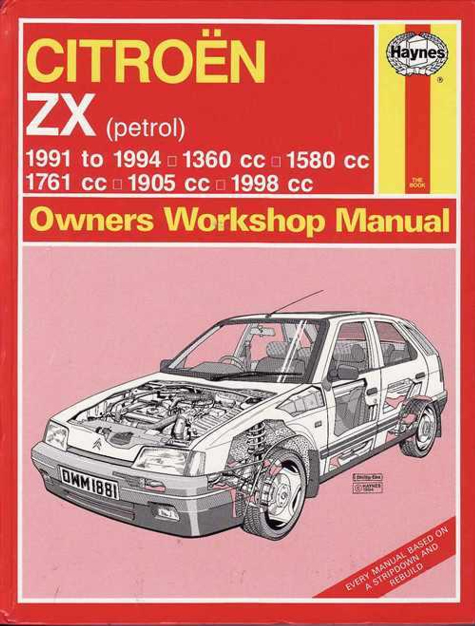 citroen zx petrol 1991 1994 workshop manual rh automotobookshop com au citroen zx service manual download Citroen DS3