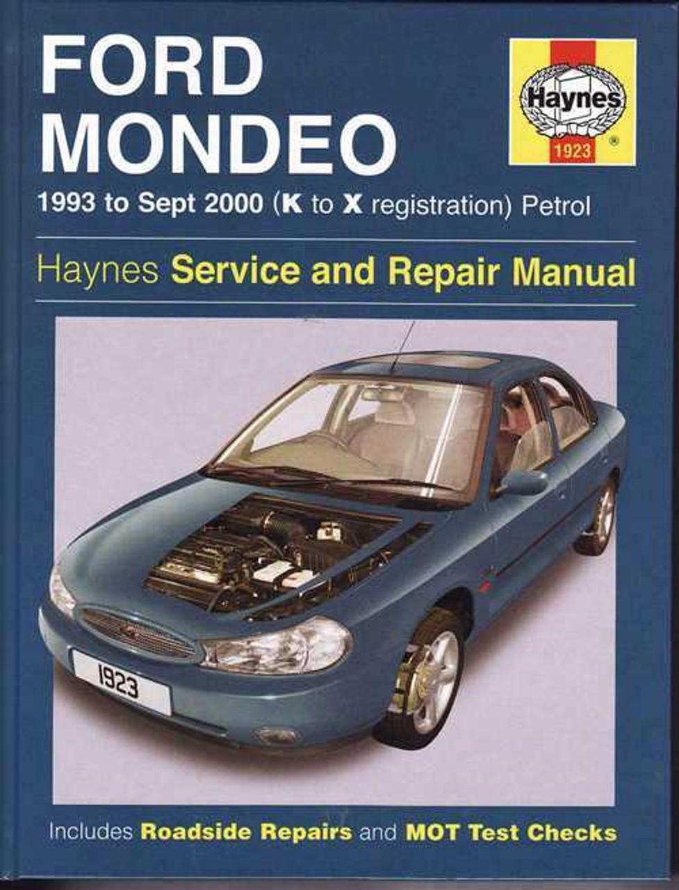 ford mondeo 1993 2000 workshop manual rh automotobookshop com au 2016 Ford Mondeo Ford Mondeo Trunk Space