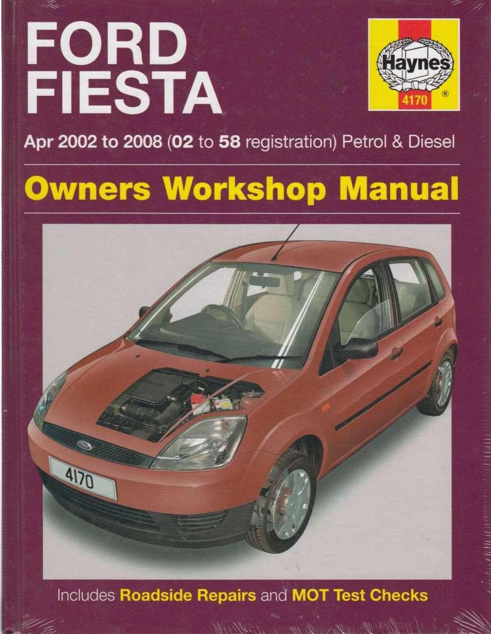 ford fiesta petrol diesel 2002 2008 workshop manual rh automotobookshop com au 1998 ford fiesta workshop manual 2000 Ford Festiva