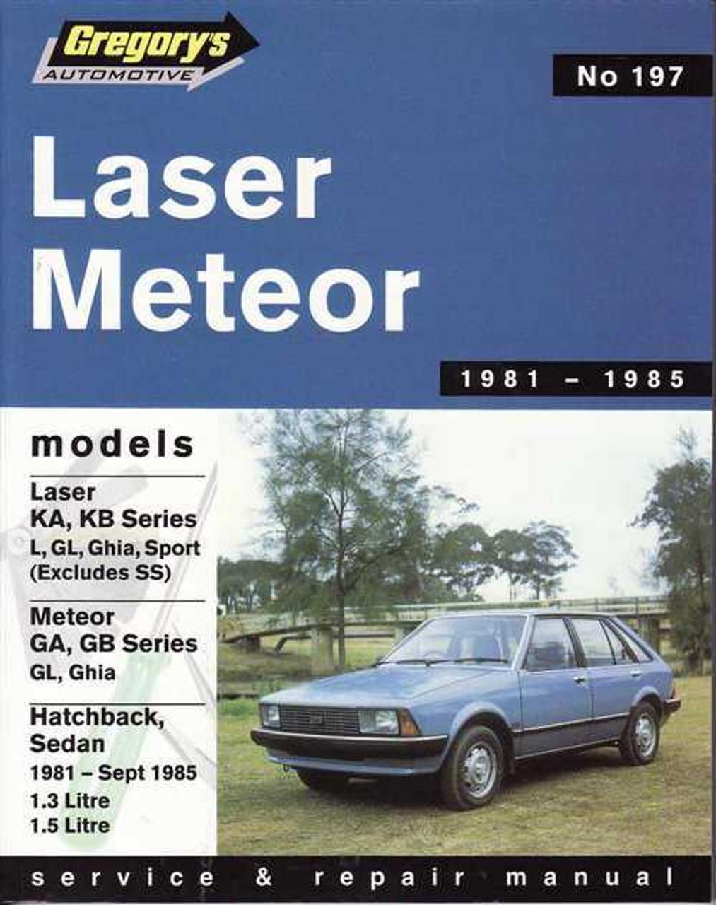 ford laser amp ford meteor 1981 1985 workshop manual rh automotobookshop com au Harga Ford Laser 1300 CC 1978 Ford Laser