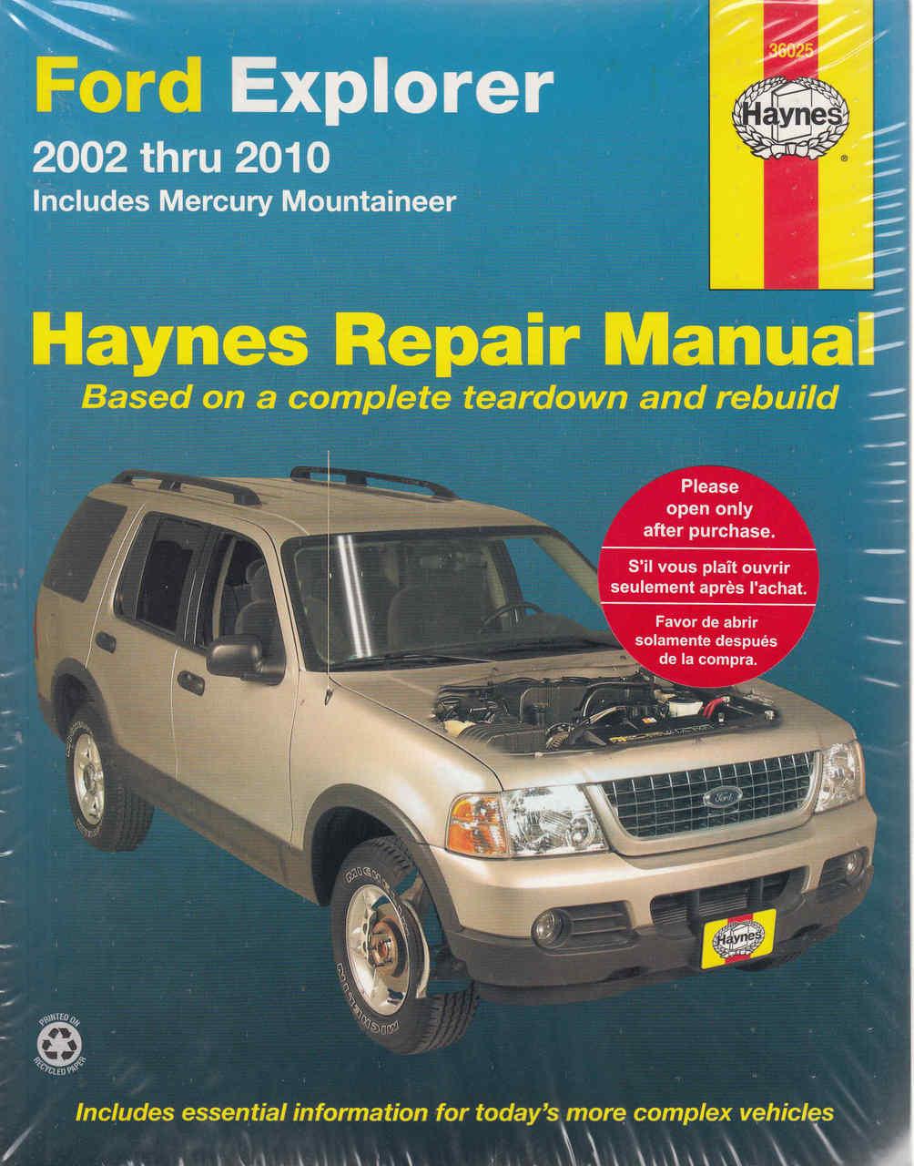 Ford Explorer 2002 - 2010 Workshop Manual (9781563928116) - front ...