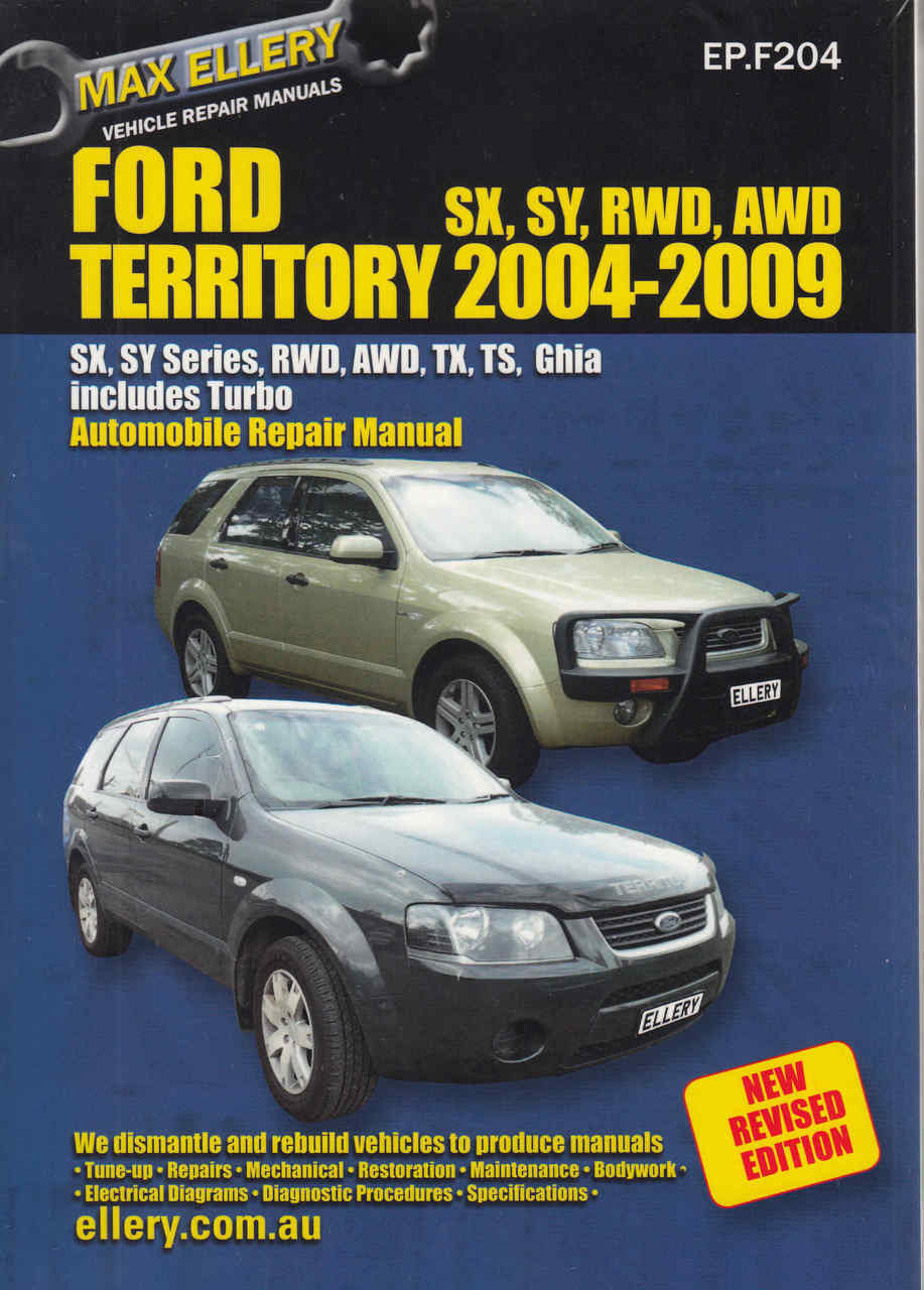 ford territory 2004 2009 workshop manual new revised edition rh automotobookshop com au 2006 Ford Falcon 2007 Ford Falcon