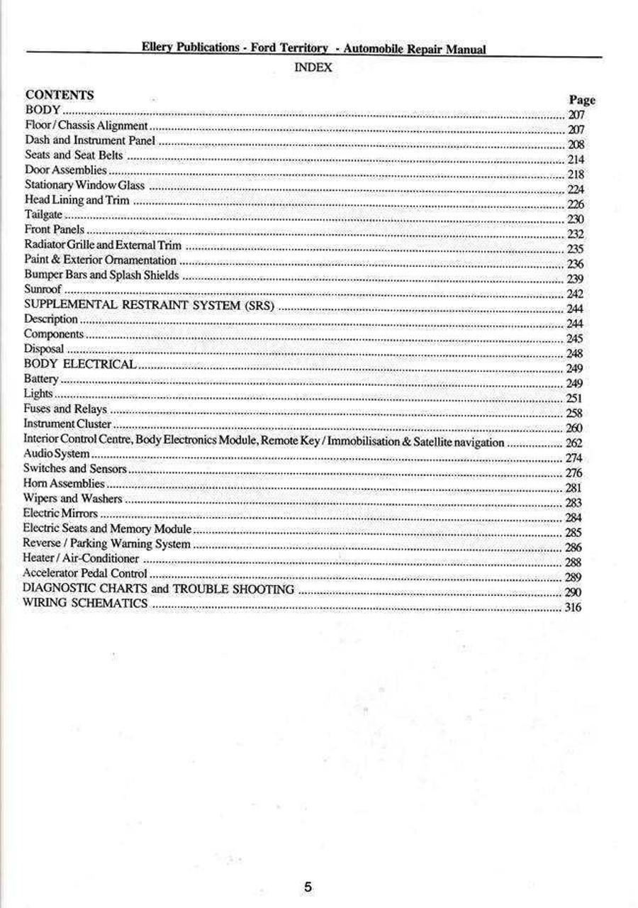 ford territory 2004 2009 workshop manual new revised edition rh automotobookshop com au ford territory workshop manual online ford territory workshop manual pdf