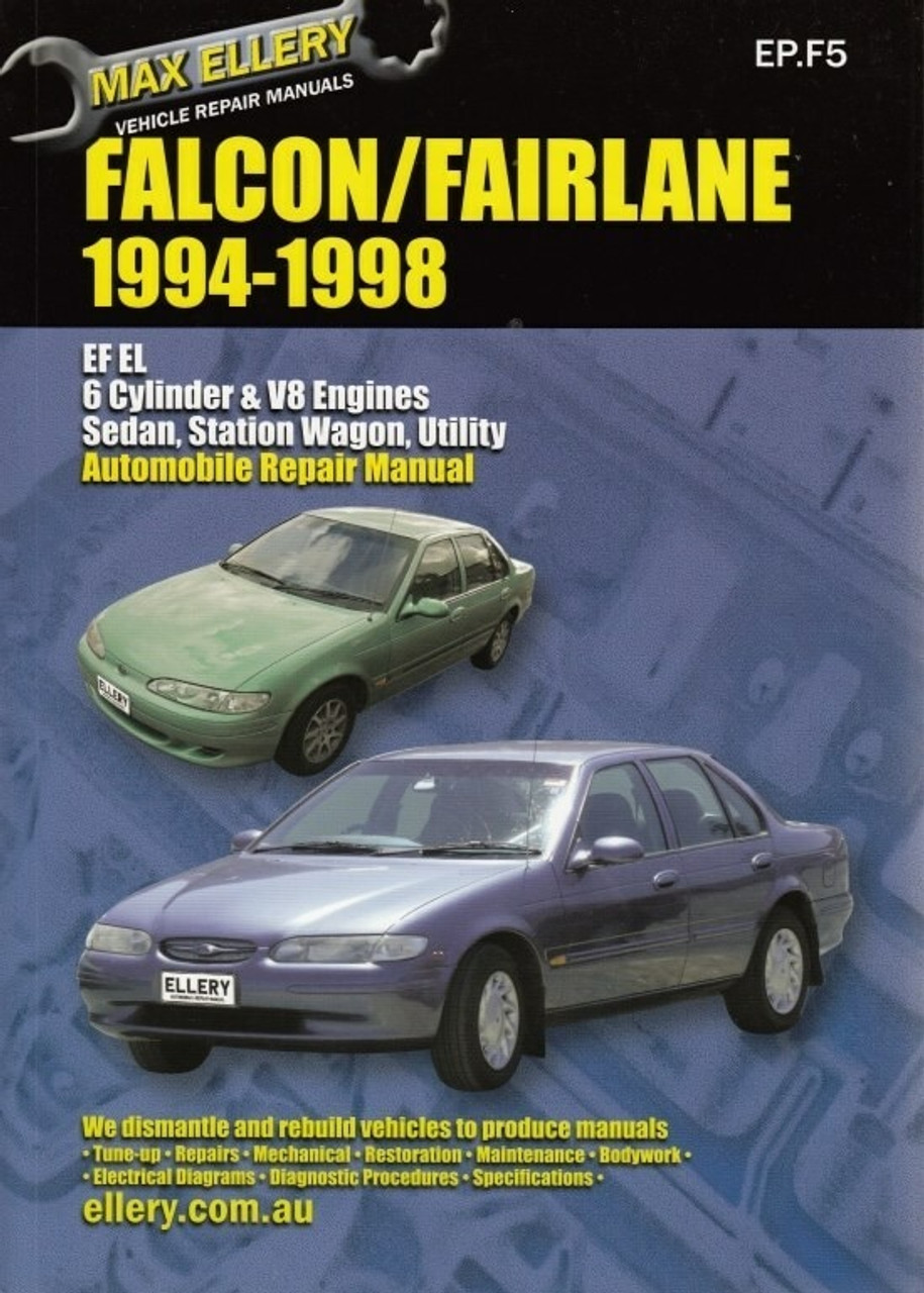 ford falcon fairlane ef el nf nl 1994 1998 workshop manual rh automotobookshop com au 1959 Ford Falcon El Ford Falcon XR