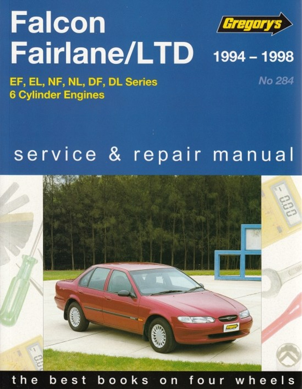 ford falcon fairlane ltd 4l series 6 cylinder 1994 1998 rh automotobookshop com au Ford Falcon Side Ford Falcon Side