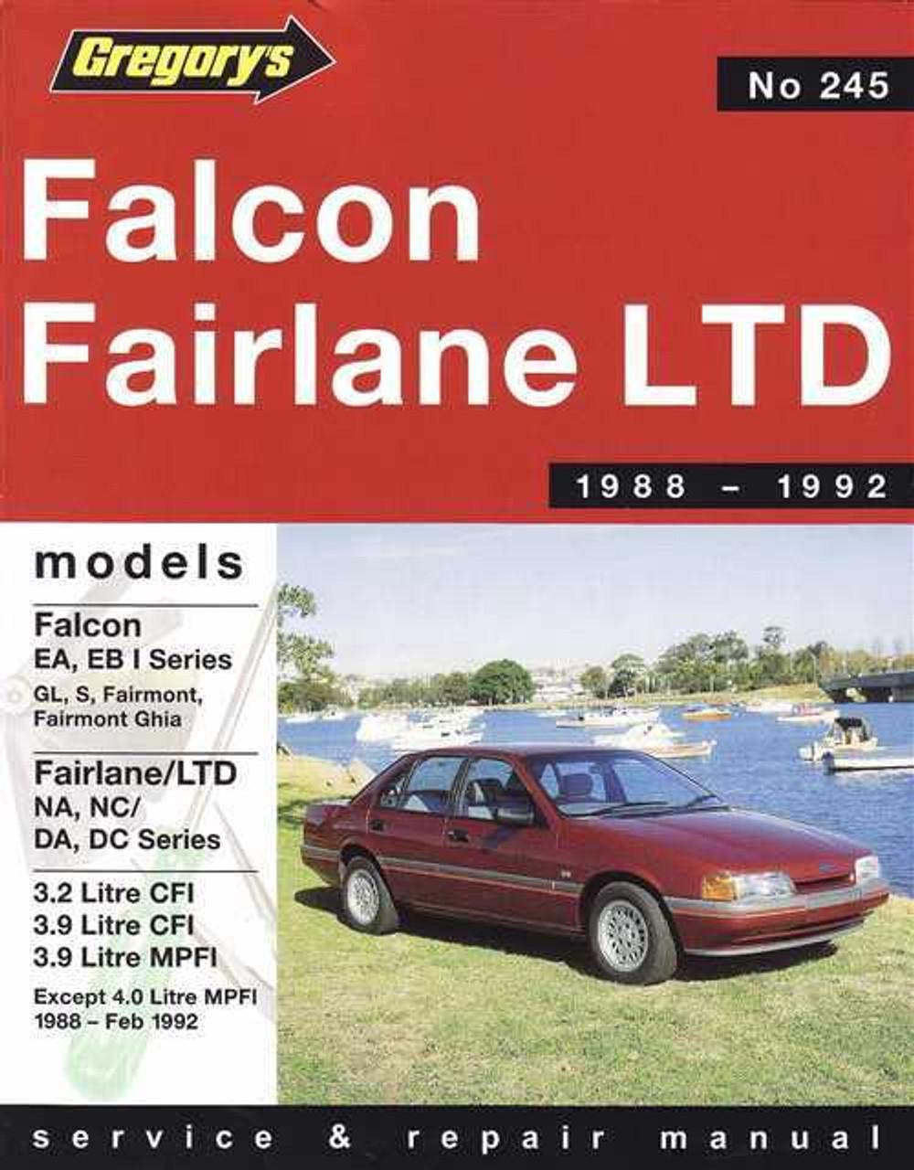 ford falcon fairlane ltd 1988 1992 workshop manual rh automotobookshop com au ford nc fairlane workshop manual ford nc fairlane workshop manual