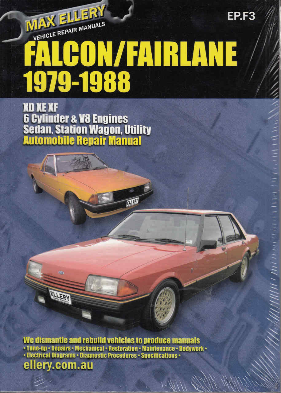 Ford Falcon / Fairlane XD, XE, XF 1979 - 1988 Workshop Manual - front ...