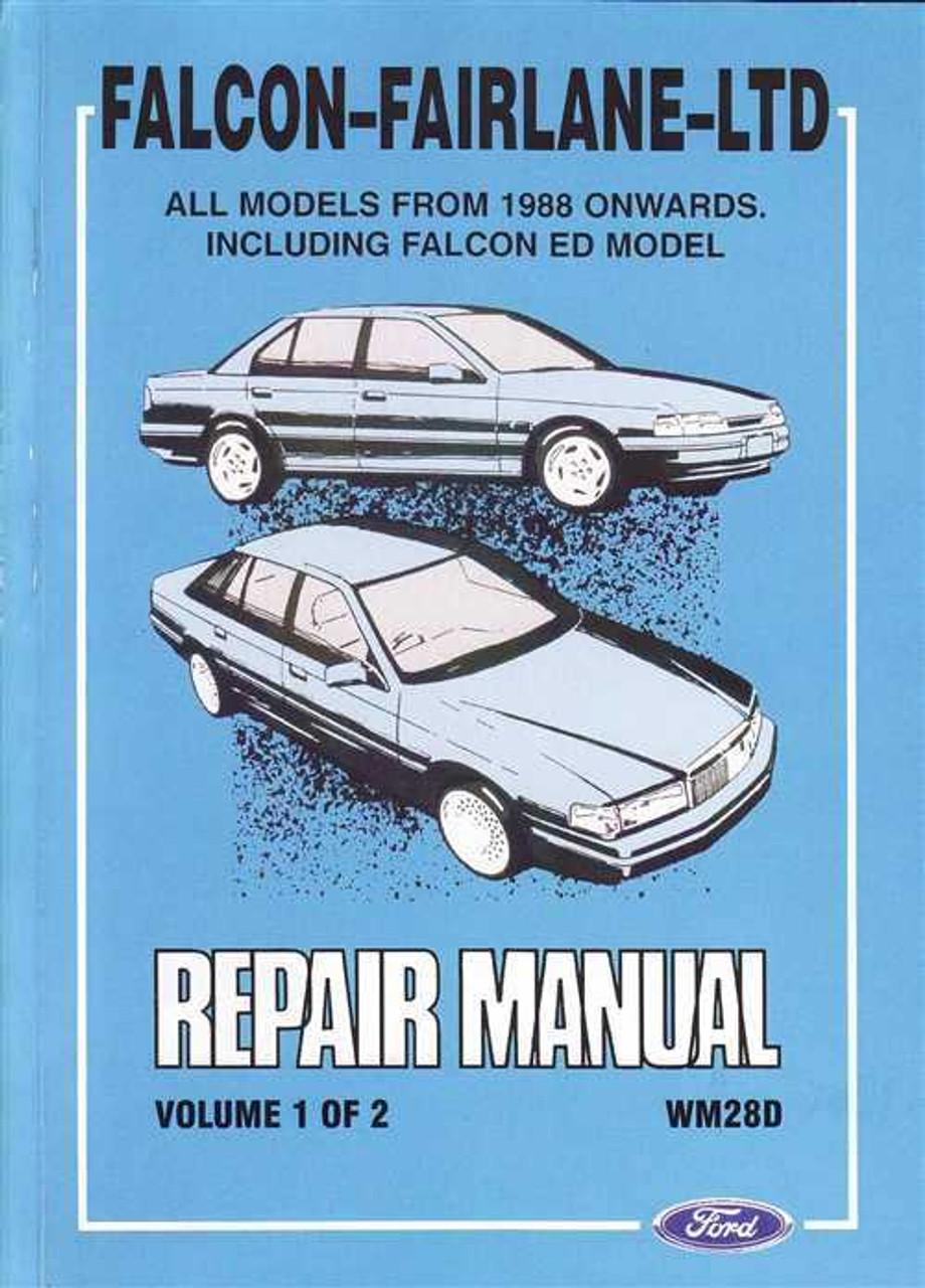 ford falcon and fairlane ltd workshop manual rh automotobookshop com au ford falcon eb workshop manual free download eb falcon workshop manual download