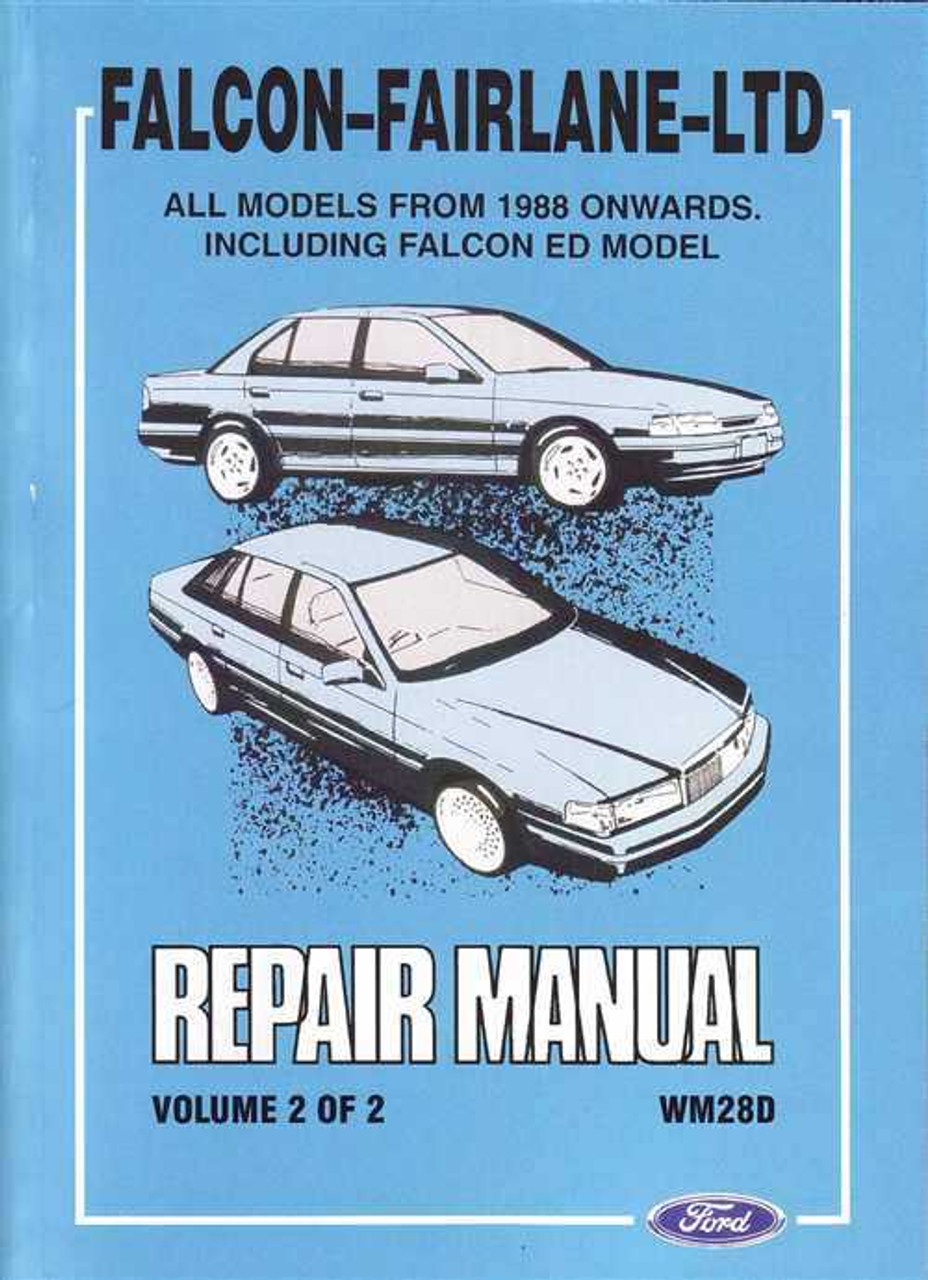 ford falcon and fairlane ltd workshop manual rh automotobookshop com au User Manual Corvette Owners Manual