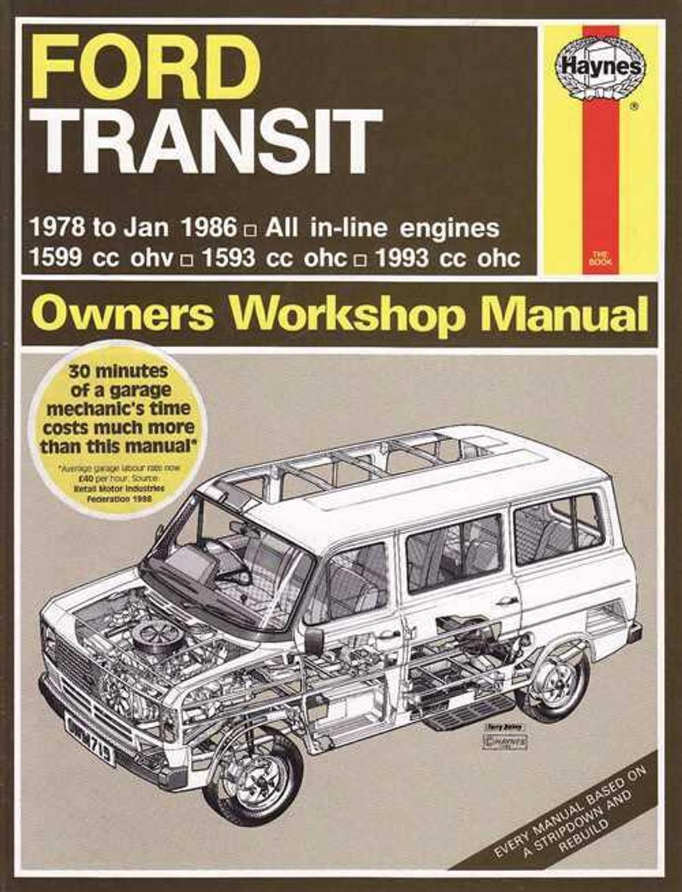 ford transit mk2 petrol 1978 1986 workshop manual rh automotobookshop com au Ford Tourneo Custom Ford Tourneo Interior
