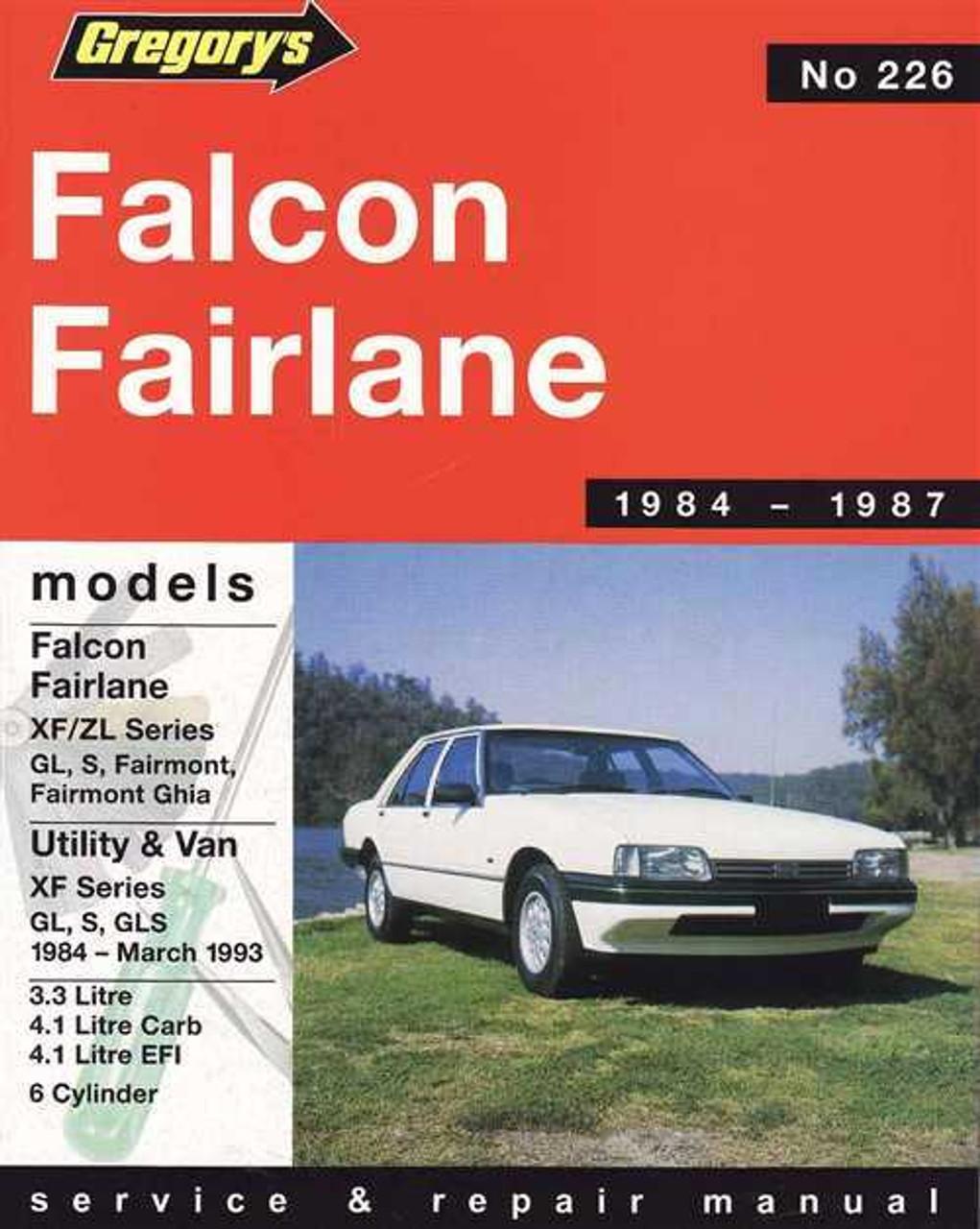 ford falcon fairlane 1984 1987 workshop manual rh automotobookshop com au Ford Falcon EB Ford Falcon Xe