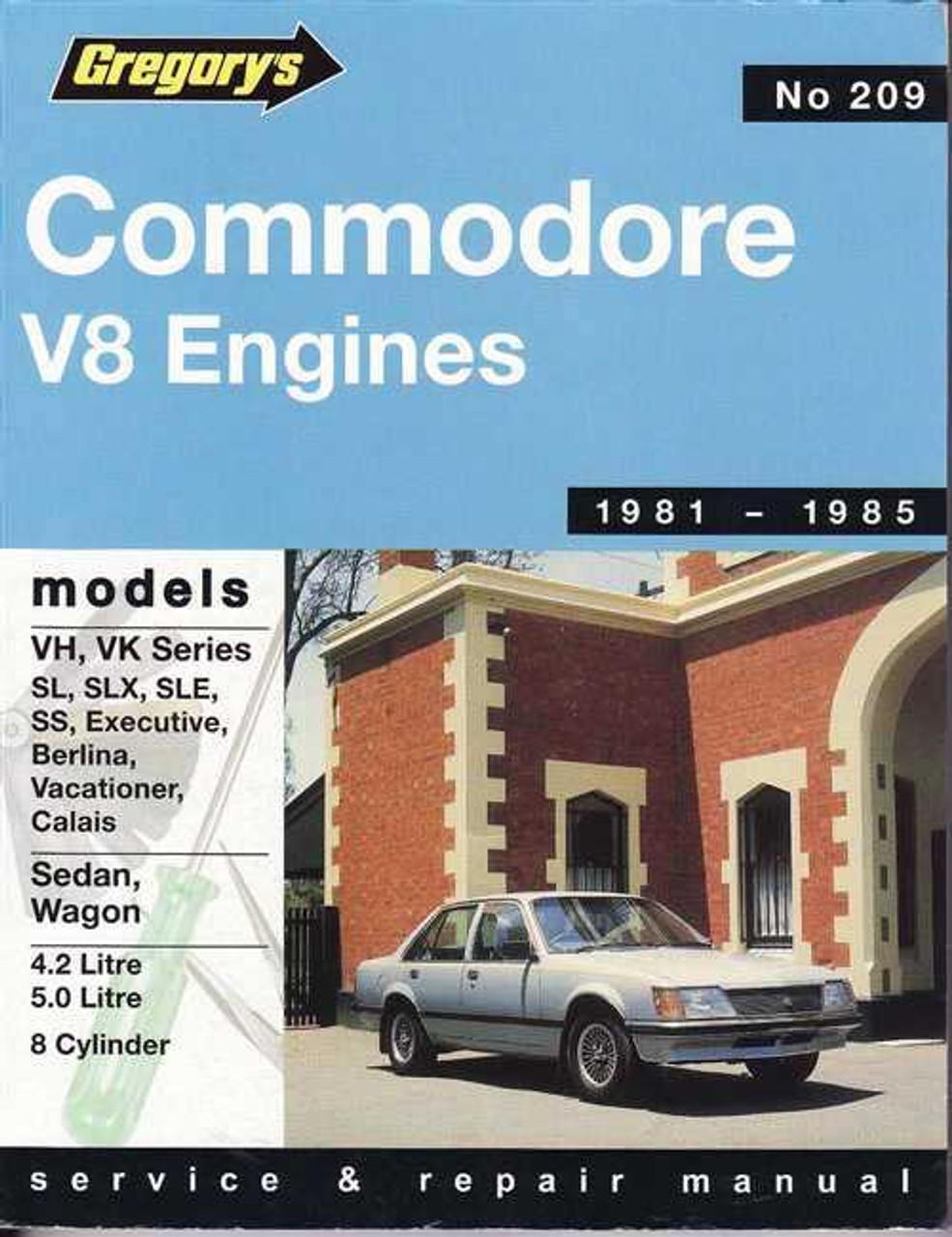 holden commodore vh vk series v8 engines 1981 1985 workshop manual rh automotobookshop com au 1984 Holden Commodore VK Holden VK Commodore Wagon