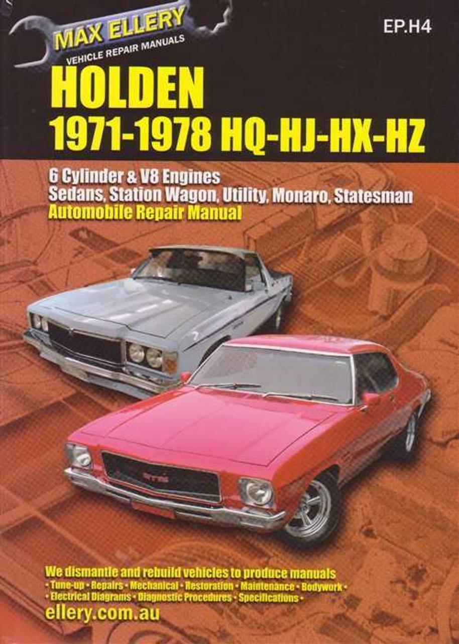 holden hq hj hx hz series 1971 1978 workshop manual rh automotobookshop com au Hj Holden SL hj holden workshop manual pdf