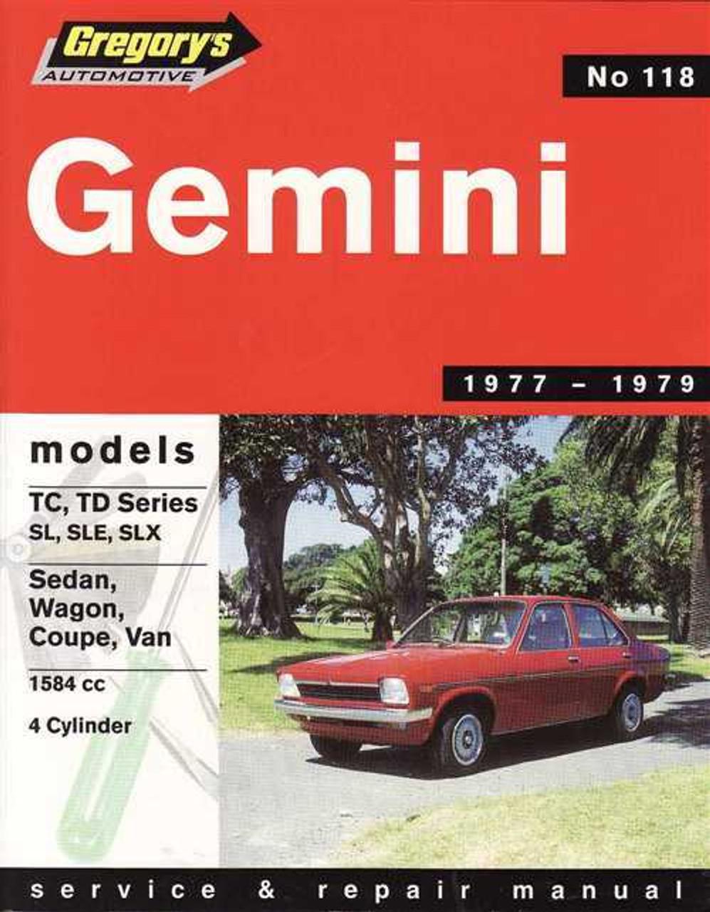 holden gemini workshop manual pdf