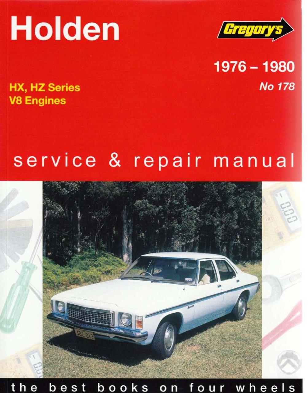 holden v8 engines 1976 1980 workshop manual rh automotobookshop com au Holden HZ Ute 1978 Holden HZ GTS