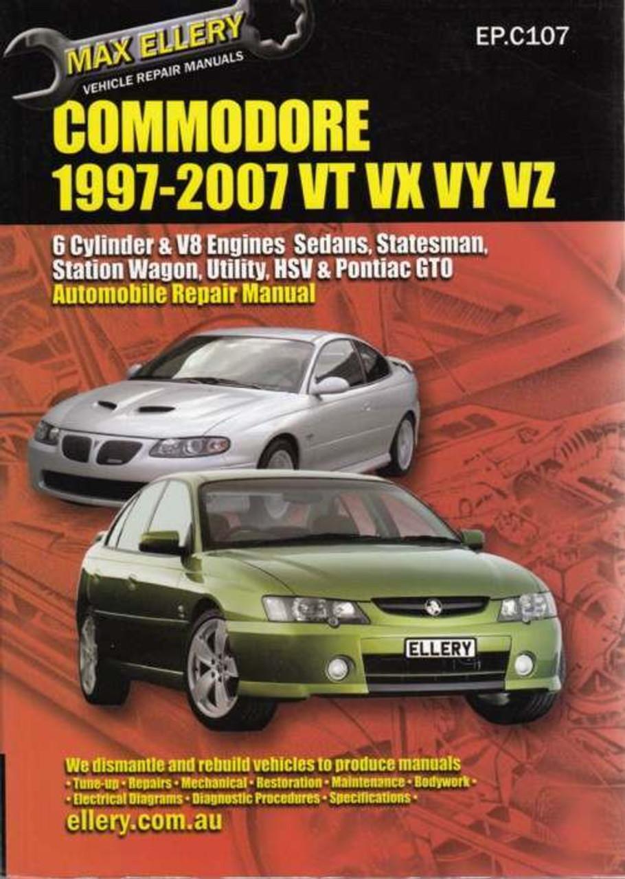 holden commodore 1997 2007 vt vx vy vz series workshop manual rh automotobookshop com au Airflow Meter Holden Commodore Vy Holden VY Commodore Interior