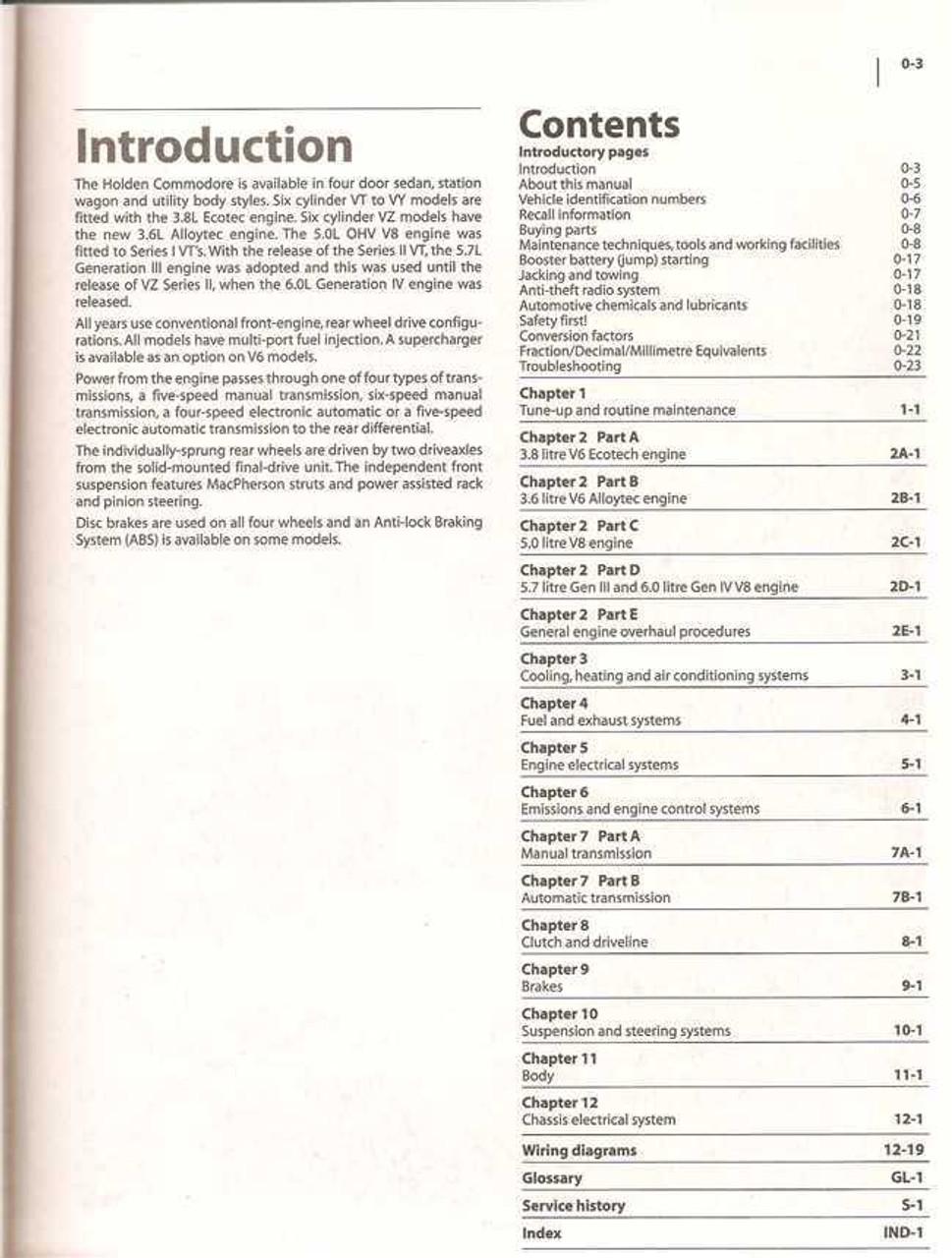holden commodore vt vx vy vz series v6 amp v8 1997 2006 rh automotobookshop com au Workshop Manuals Oilfield Well Testing Workshop Manuals Oilfield Well Testing