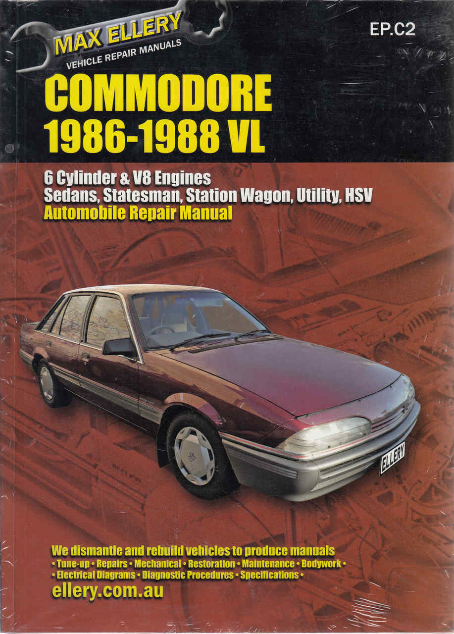 Holden Commodore VL 1986 - 1988 Workshop Manual (9781876257224) ...