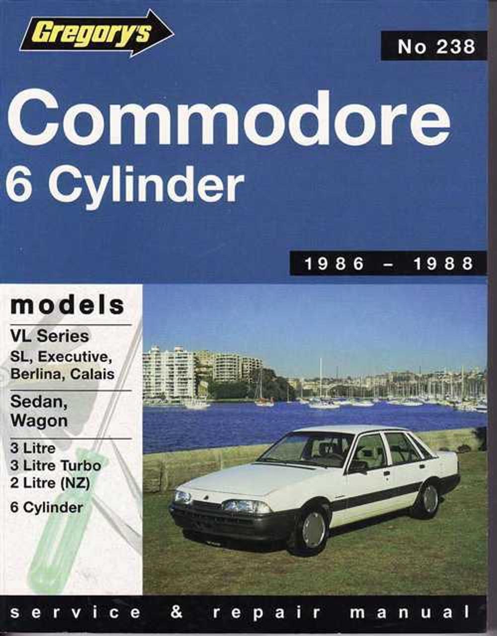 holden commodore 6 cylinder vl series 1986 1988 workshop manual rh automotobookshop com au VL Commodore LS1 VX Commodore