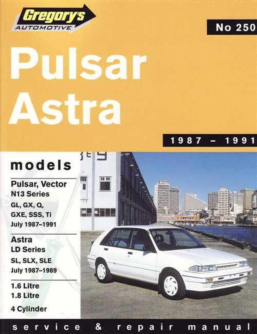 nissan pulsar amp holden astra 1987 1991 workshop manual rh automotobookshop com au Nissan Pulsar GTI-R 1986 Nissan Pulsar