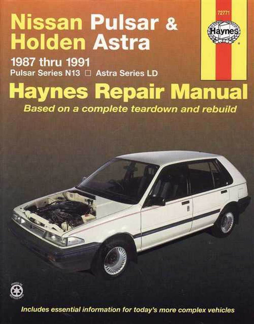 nissan pulsar amp holden astra 1987 1991 workshop manual rh automotobookshop com au Nissan Pulsar NX 1985 Nissan Pulsar