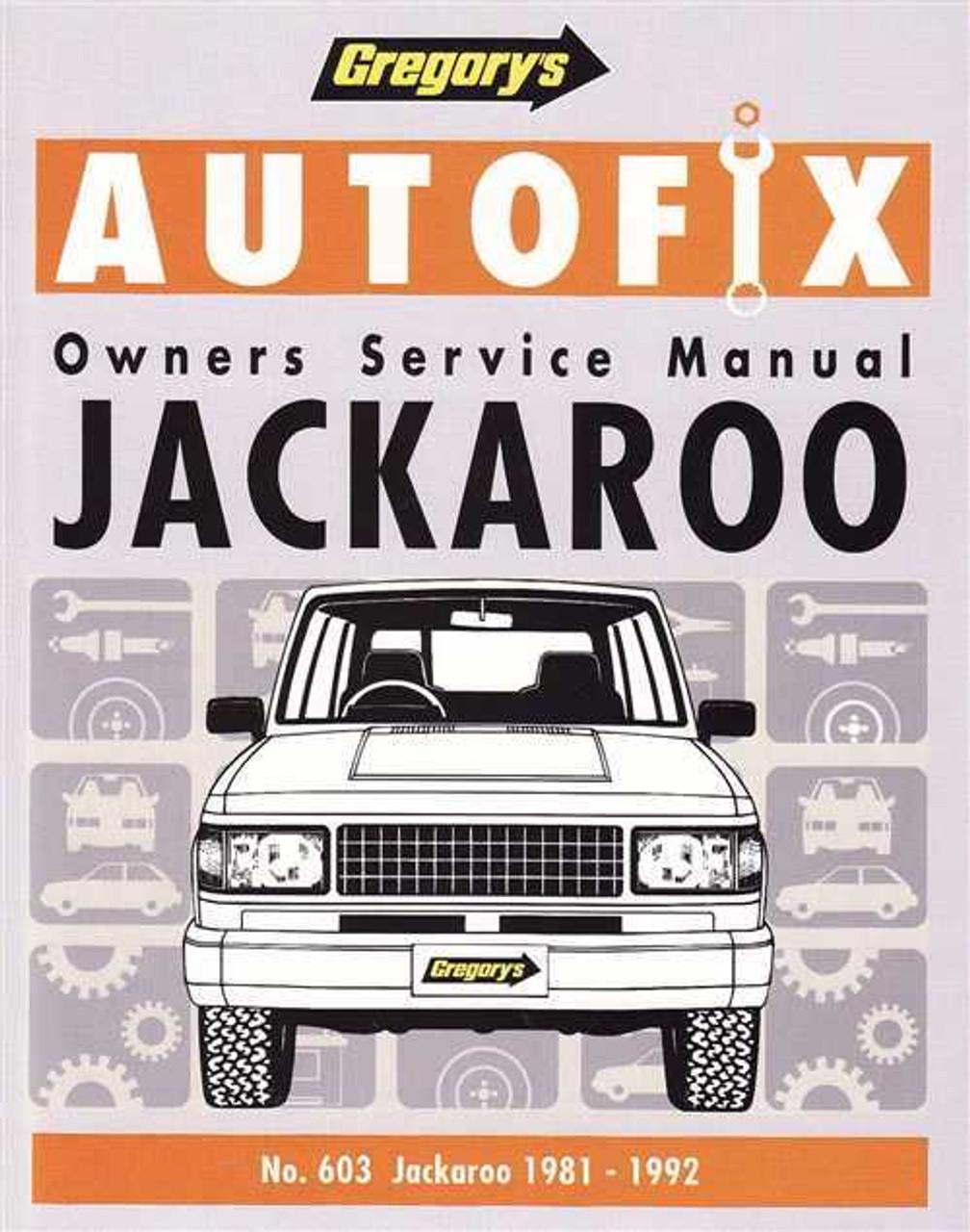 holden jackaroo 1981 1992 workshop manual rh automotobookshop com au Holden Jackaroo Monterey Holden Jackaroo Forum