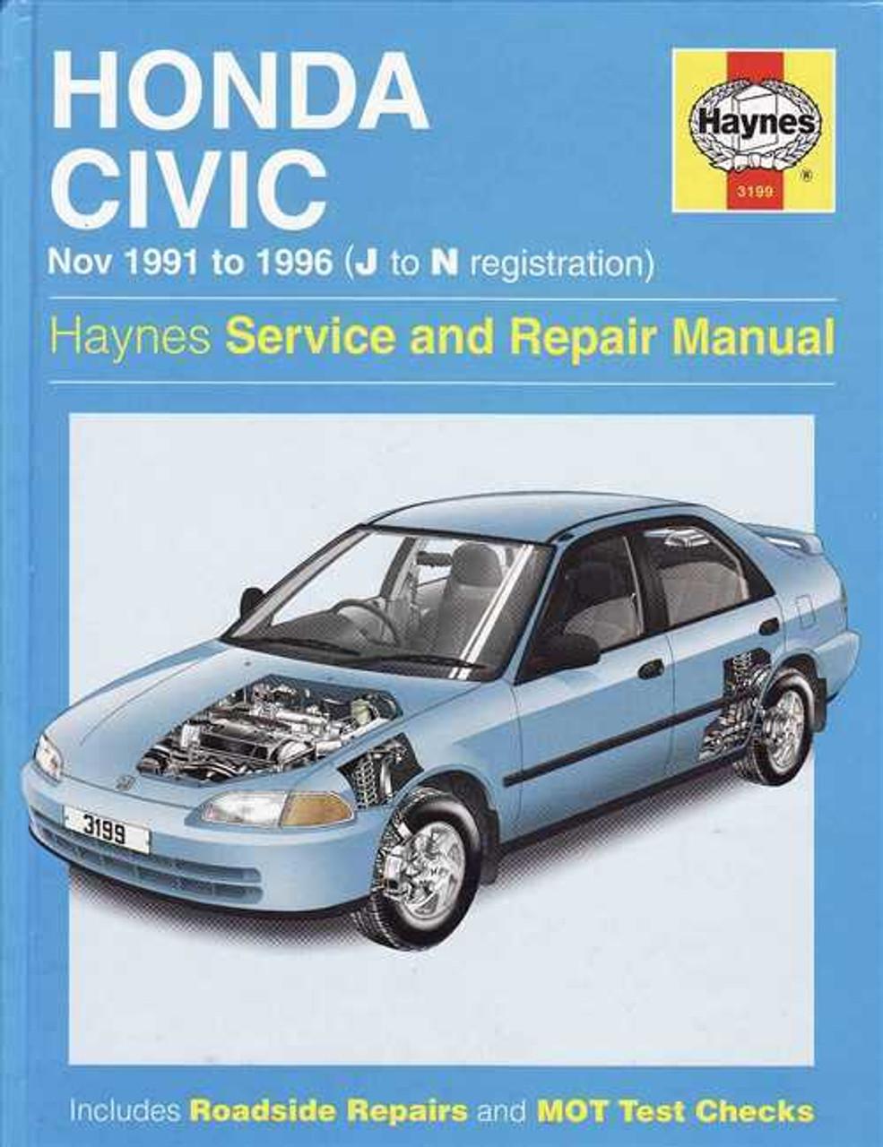 honda civic 1991 1996 workshop manual rh automotobookshop com au Online Repair Manuals Haynes Repair Manual 1991 Honda Civic