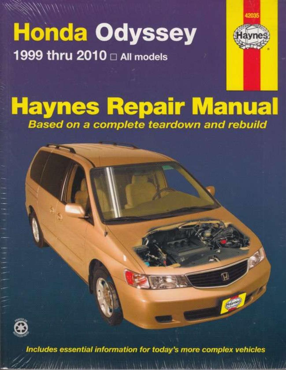 honda odyssey 1999 2010 workshop manual. Black Bedroom Furniture Sets. Home Design Ideas
