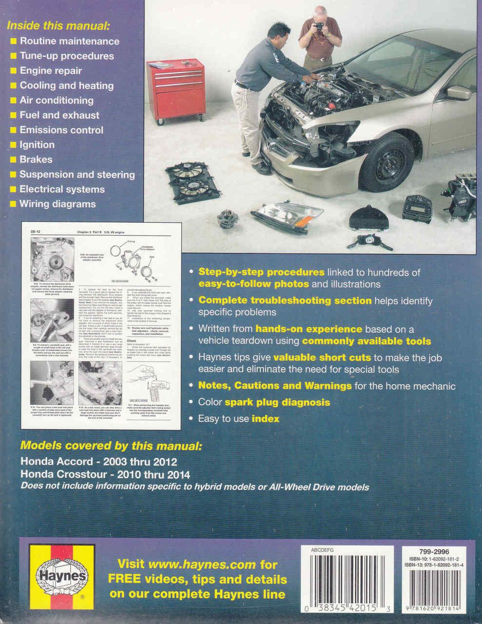 Honda Accord Crosstour 2003 2012 Workshop Manual 1984 Wiring Diagram 2014