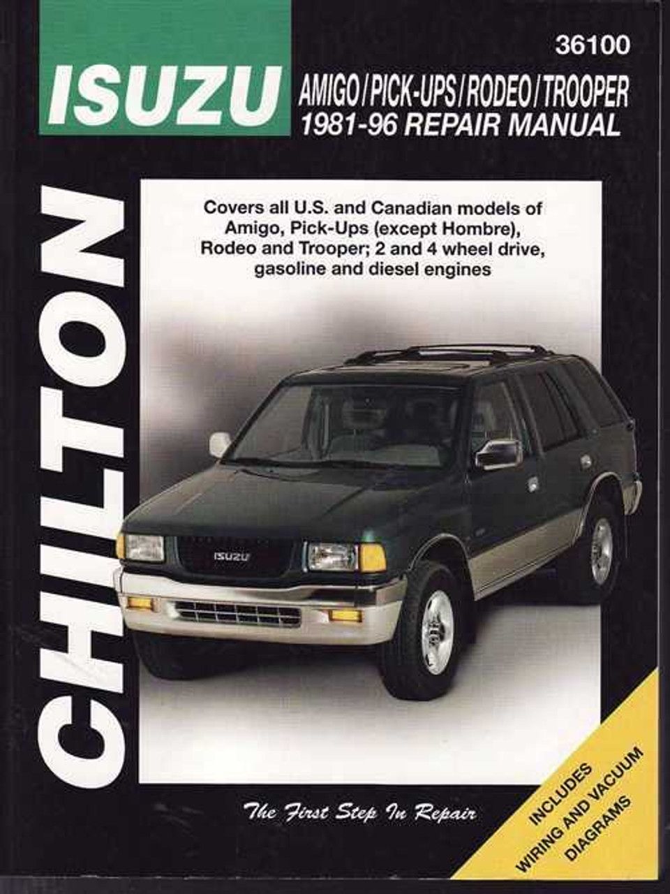 holden jackaroo amp rodeo isuzu 1981 1996 workshop manual rh automotobookshop com au 2007 Holden Rodeo 1990 Holden Rodeo