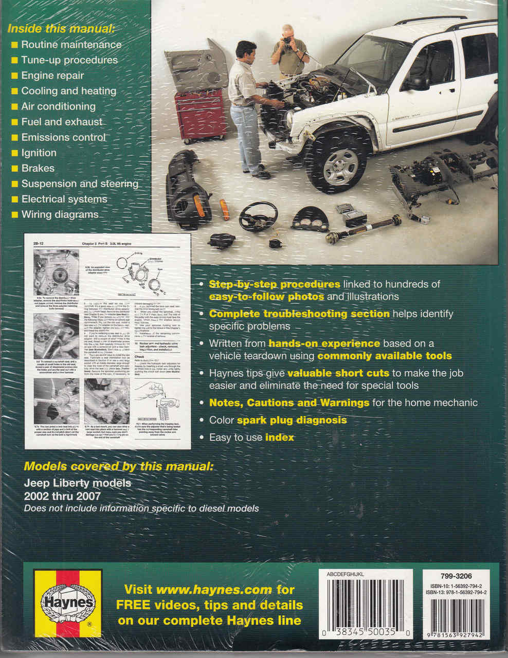 ... Jeep Liberty 2002 - 2007 Gasoline Models Workshop Manual - back ...