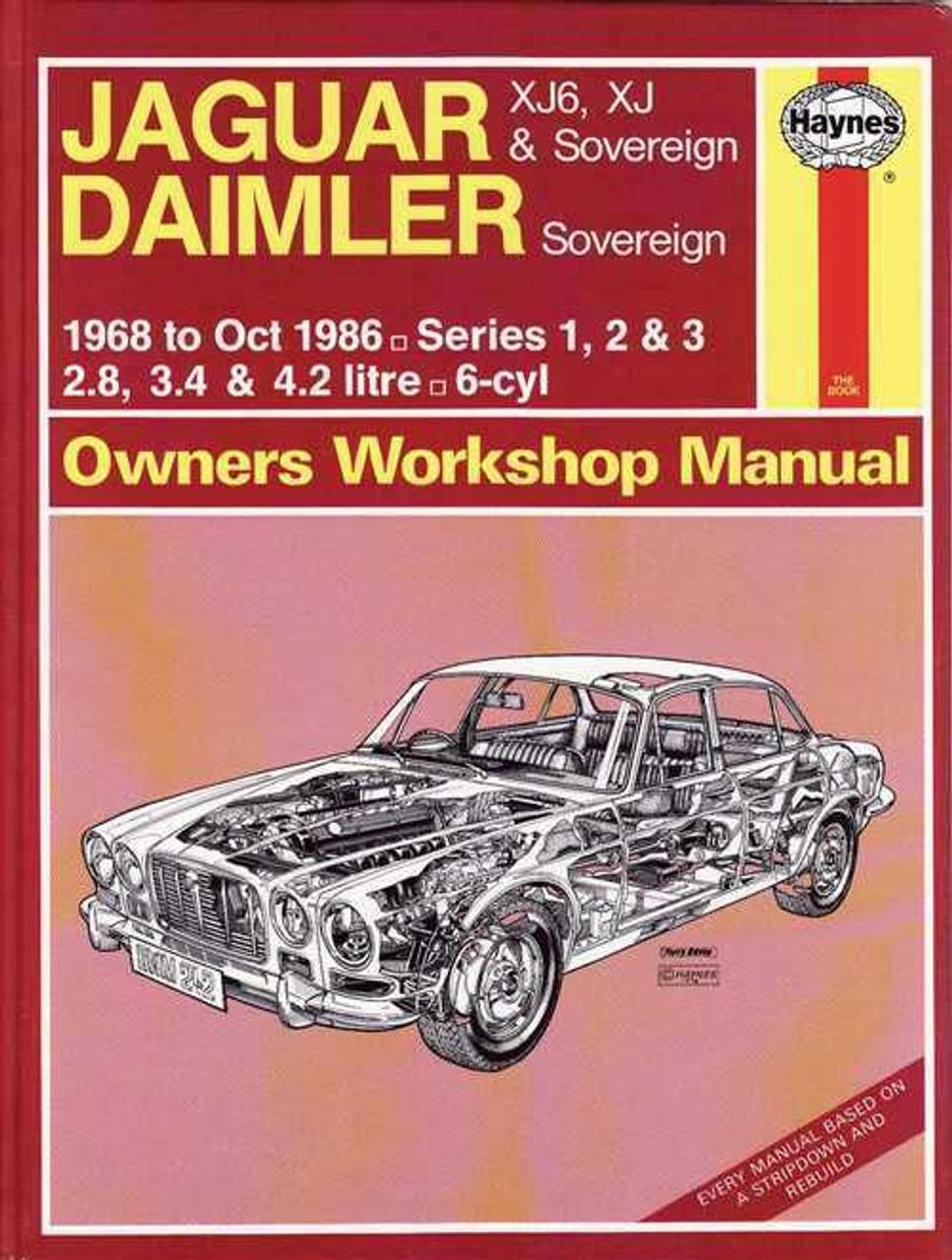jaguar xj6 xj amp sovereign amp daimler sovereign 1968 1986 rh automotobookshop com au jaguar xj8 x308 workshop and parts manual jaguar xj8 workshop manual pdf