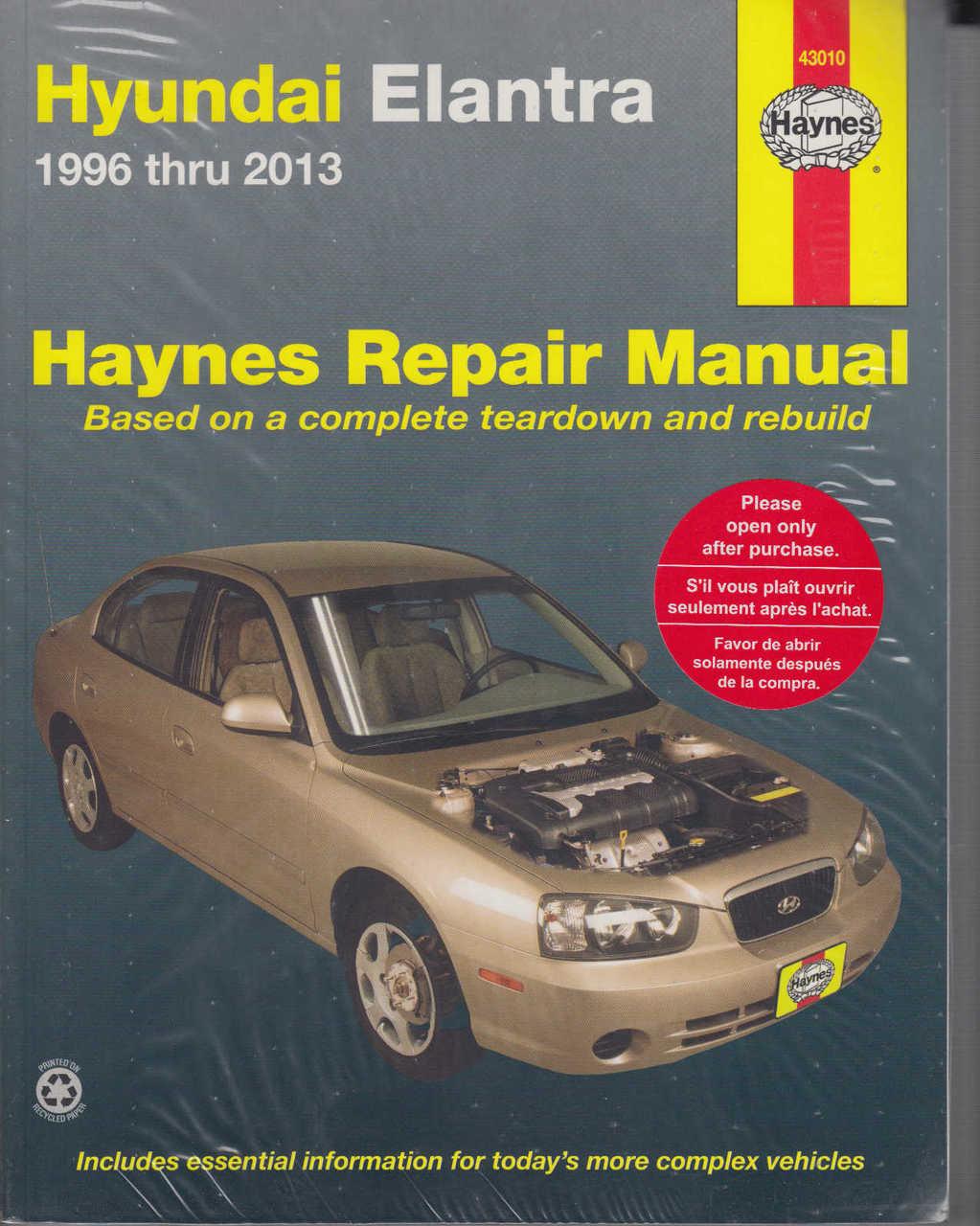Hyundai Elantra (Lantra) 1996 - 2013 Workshop Manual ...