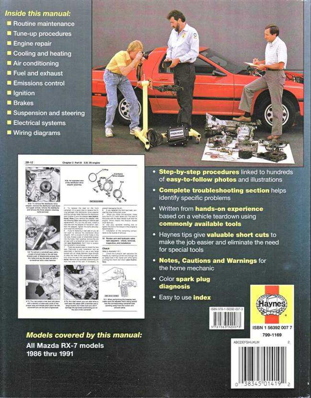 Mazda rx 7 1986 1991 workshop manual asfbconference2016 Choice Image
