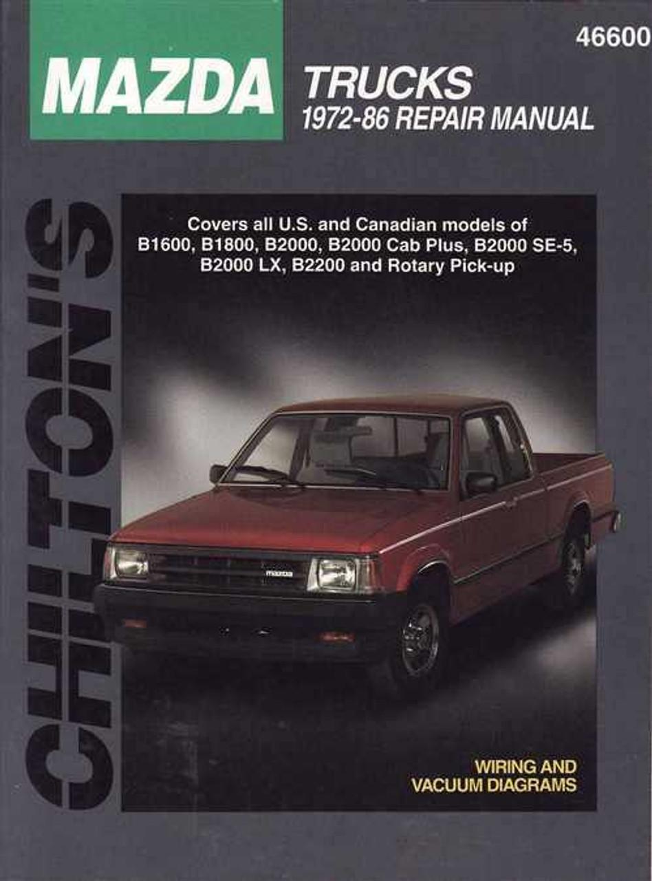 mazda trucks 1972 1986 workshop manual rh automotobookshop com au Mazda B3000 mazda b1800 service manual