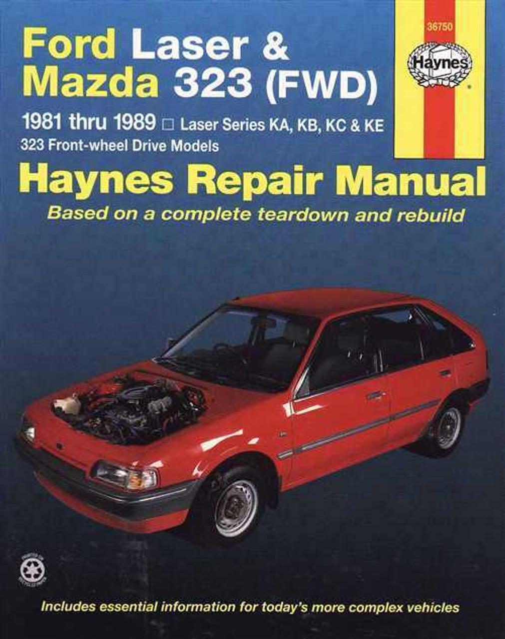ford laser amp mazda 323 1981 1989 workshop manual rh automotobookshop com au Mazda Familia S-Wagon Mazda Familia S-Wagon