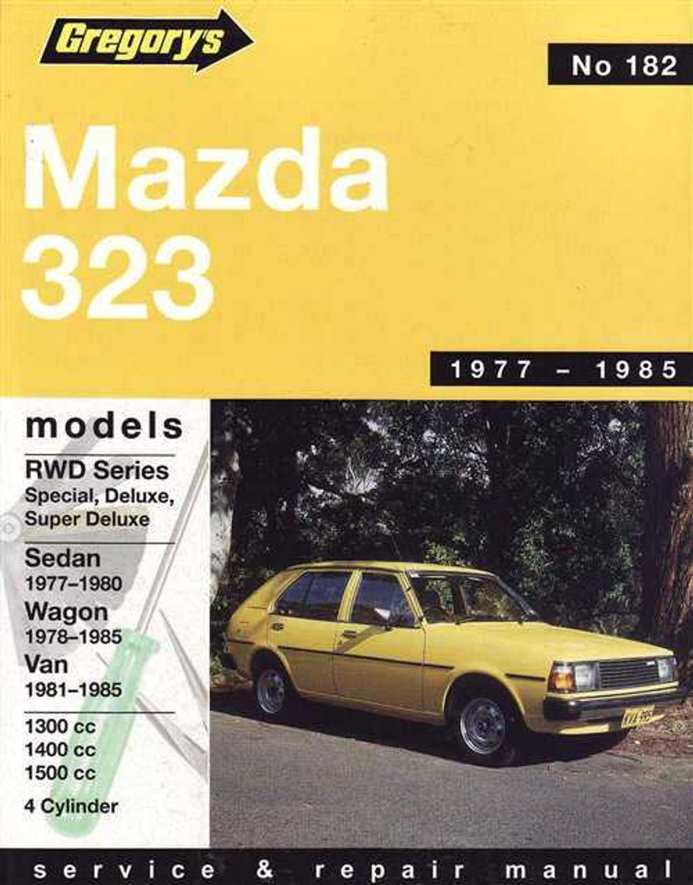 mazda 323 1977 1985 workshop manual rh automotobookshop com au Mazda MX-3 Mazda Familia Parts