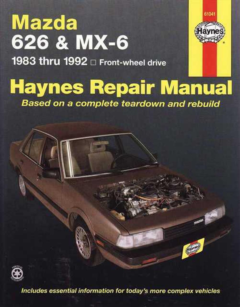 mazda 626 amp mx 6 1983 1992 workshop manual rh automotobookshop com au 1990 Mazda 626 1992 mazda 626 ge workshop manual