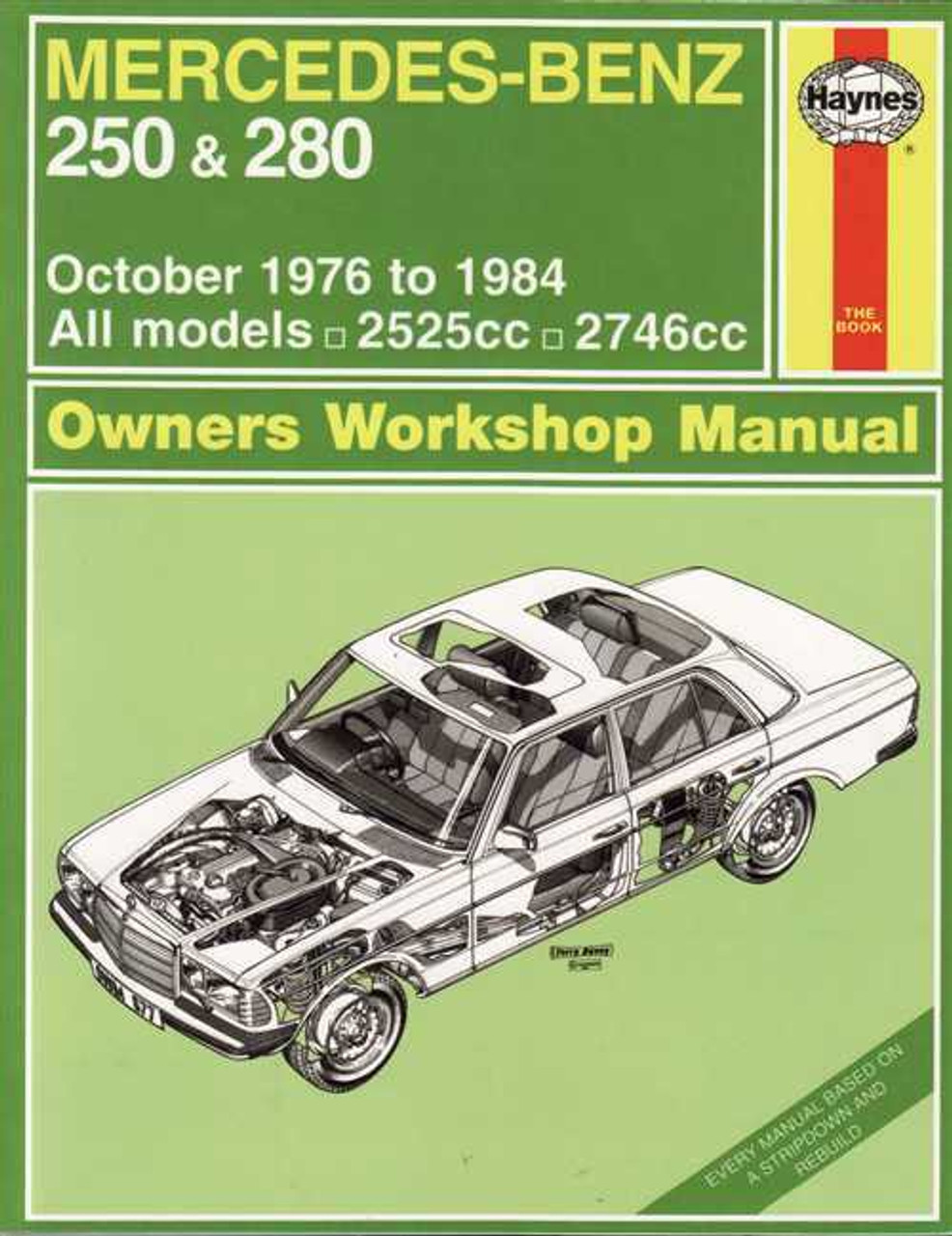 mercedes benz 250 amp 280 1976 1984 workshop manual rh automotobookshop com au IRC Section 280E Garage Door Opener Manuals