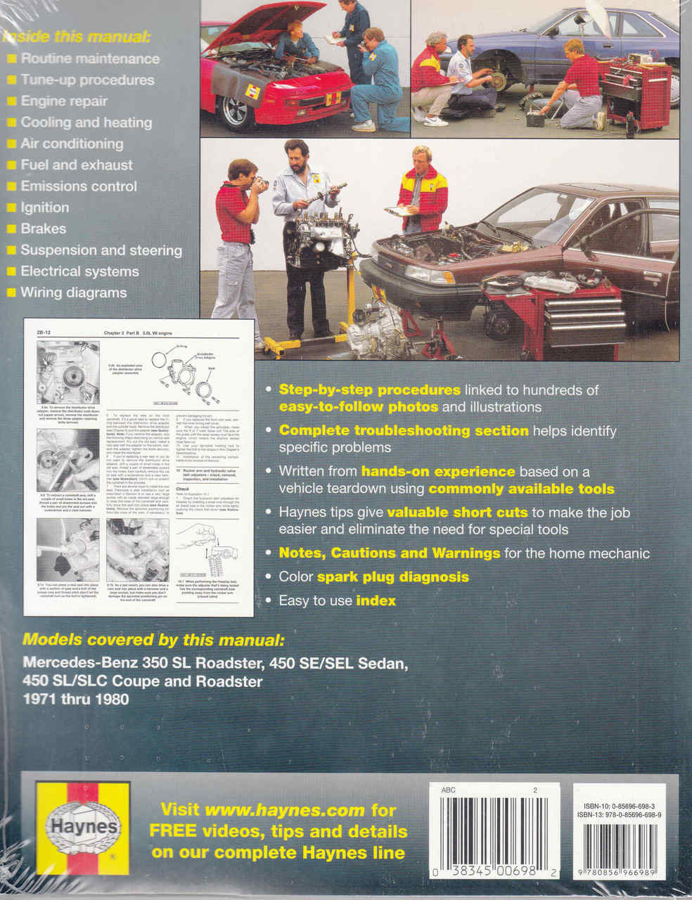 mercedes benz 350 450 1971 1980 workshop manual rh automotobookshop com au